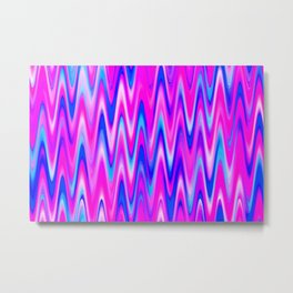 WAVY #1 (Blues, Purples & Fuchsias) Metal Print