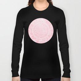 Medallion Pattern in Blush Pink Long Sleeve T-shirt