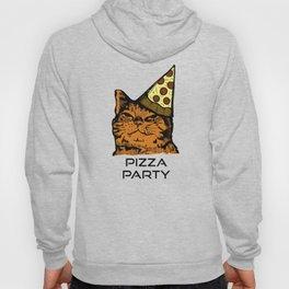 Pizza Party Cat: Funny Animal Kitty Hoody
