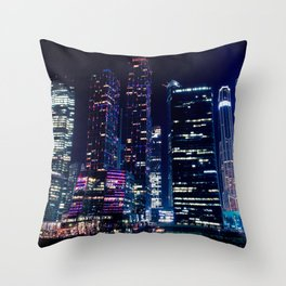 Moscow Skyscrapers Throw Pillow