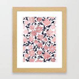 Plants pattern Framed Art Print