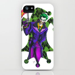 The Joker playing card iPhone Case