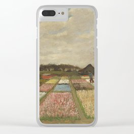 Vincent van Gogh Flower Beds in Holland c. 1883 Painting Clear iPhone Case