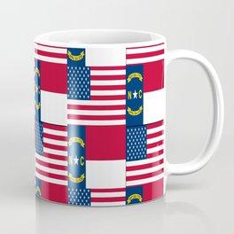 Mix of flag: Usa and north carolina Coffee Mug