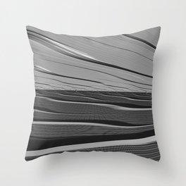 Dual Realities: Black Flood Throw Pillow