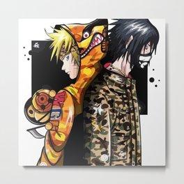 naruto sasuke bape Metal Print