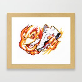 Fire Reds Framed Art Print