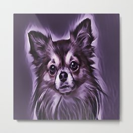 The Chocolate Pomeranian Metal Print