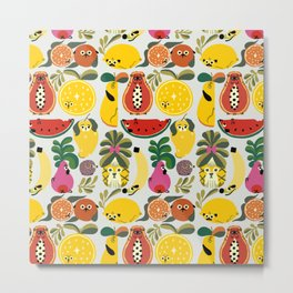 Puppical Fruits Metal Print
