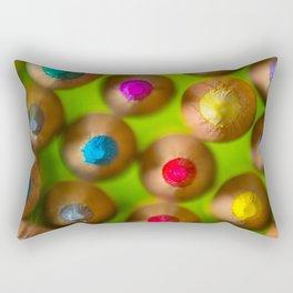 COLORED PENCILS 4 Rectangular Pillow