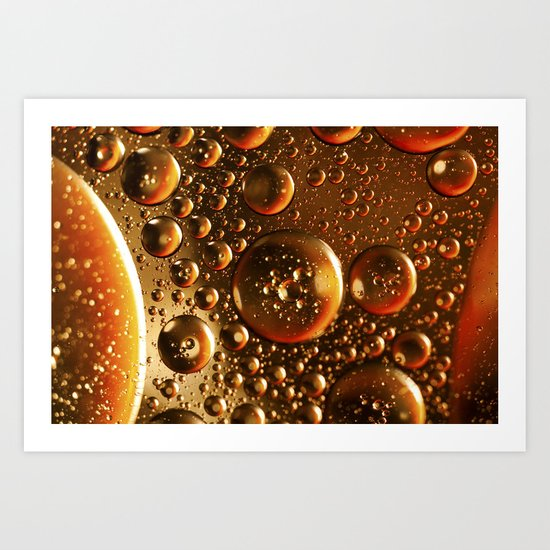 Oil And Water Don't Mix Art Print