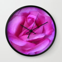 """""""Those that don't believe in magic will never find it"""" quote purple pink rose close-up photo Wall Clock"""