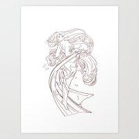 mucha Art Prints featuring Mucha Inspired by Jon Cain