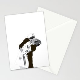 kissing the war goodbye 1945 Stationery Cards