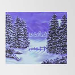Moon Over The Mountain Throw Blanket