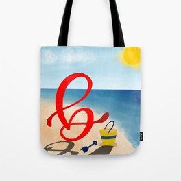 Baby B at the Beach Tote Bag