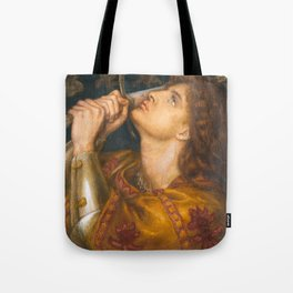 Joan of Arc by Dante Gabriel Rossetti, 1864 Tote Bag