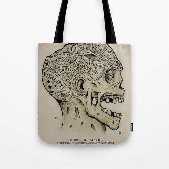 Zombie Phrenology Tote Bag