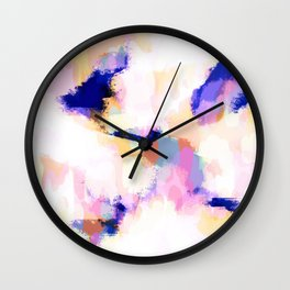 Shannon - Purple and cream abstract art Wall Clock
