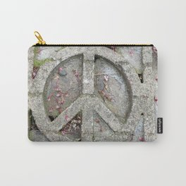Peace sign on sidewalk in California Carry-All Pouch