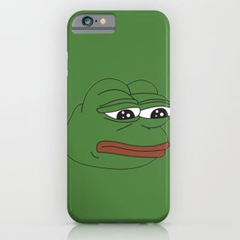 Super Rare Pepe The Frog!  iPhone Case