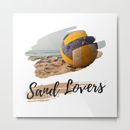 Sand Lovers - Beach And Volleyball And Sand Metal Print