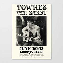 Townes Van Zandt Poster Canvas Print