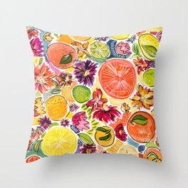 Citrus Fresh Throw Pillow