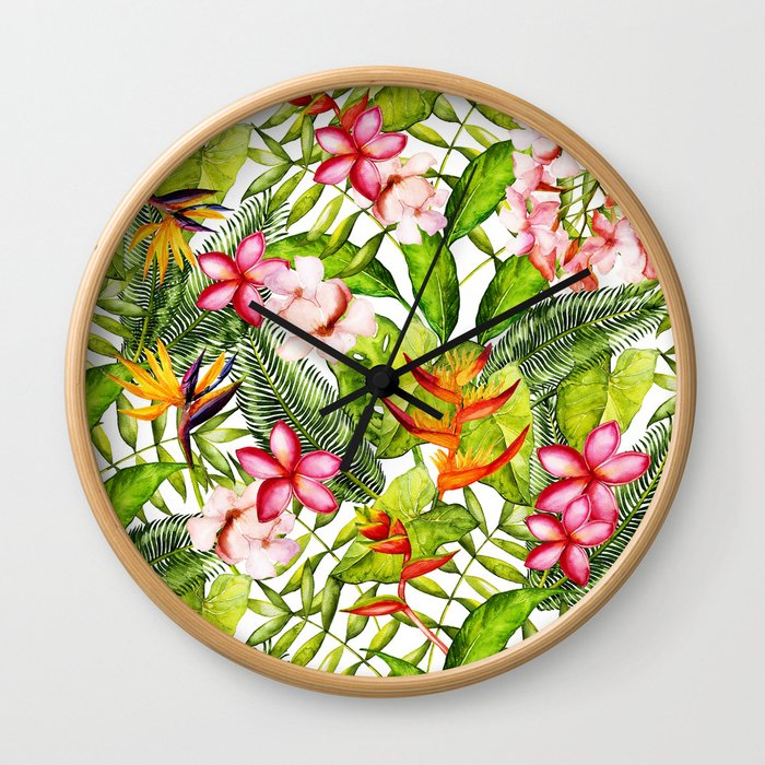 My Aloha Tropical Flower Hibiscus Garden Wall Clock