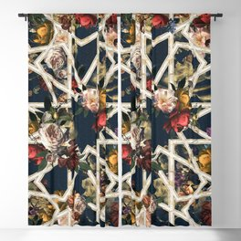 May The Floral Be With You Blackout Curtain