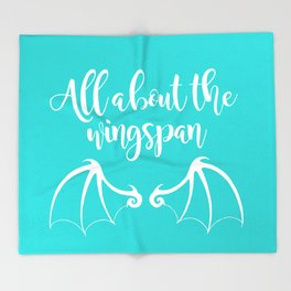 All About the Wingspan blue design Throw Blanket