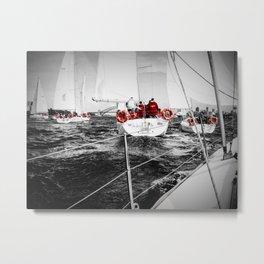 Lifesavers Near the Ocean Metal Print