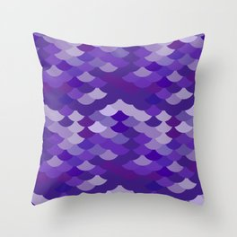 Ultra Violet wave, abstract simple background with japanese seigaiha circle pattern Throw Pillow