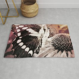 coneflower and butterfly Rug