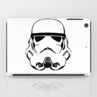 storm trooper iPad Cases featuring Trooper by C Liza B