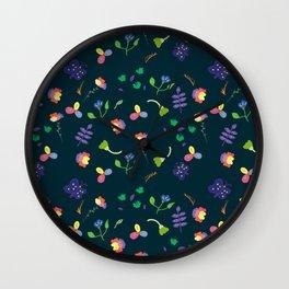 Spring Floral Pattern II Wall Clock