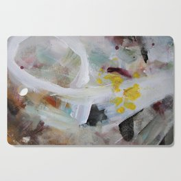My Baby White Yellow Purple Abstract Painting Art Canvas Print Cutting Board