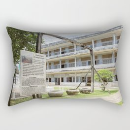 S21 The Gallows - Khmer Rouge, Cambodia Rectangular Pillow