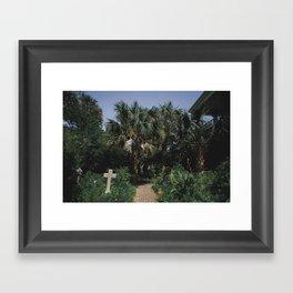 Cemetery Garden Framed Art Print