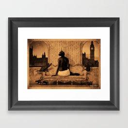 Dark Victorian Portrait: The Lady Bast Framed Art Print