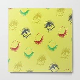 Eye lashes Metal Print