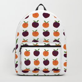 Mini Peachy Plummy Hand-Painted Orchard Fruits Backpack