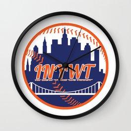 """""""Subway Series"""" Mets Wall Clock"""