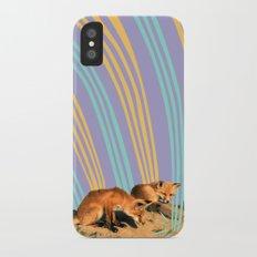 Foxes iPhone X Slim Case