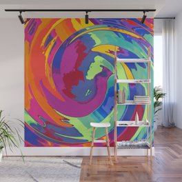 Spirale about fox and taile Wall Mural