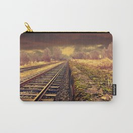 Train rails in warm tones Carry-All Pouch