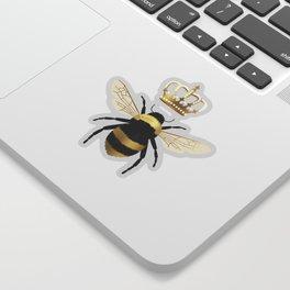 Gold Queen bee / girl power bumble bee pattern Sticker