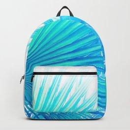 Solar Summer Fan Palms - Blue and Aqua Backpack