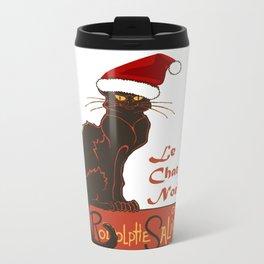 Le Chat Noel Christmas Vector Travel Mug