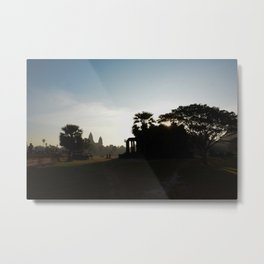 Sunrise at the Temple Metal Print